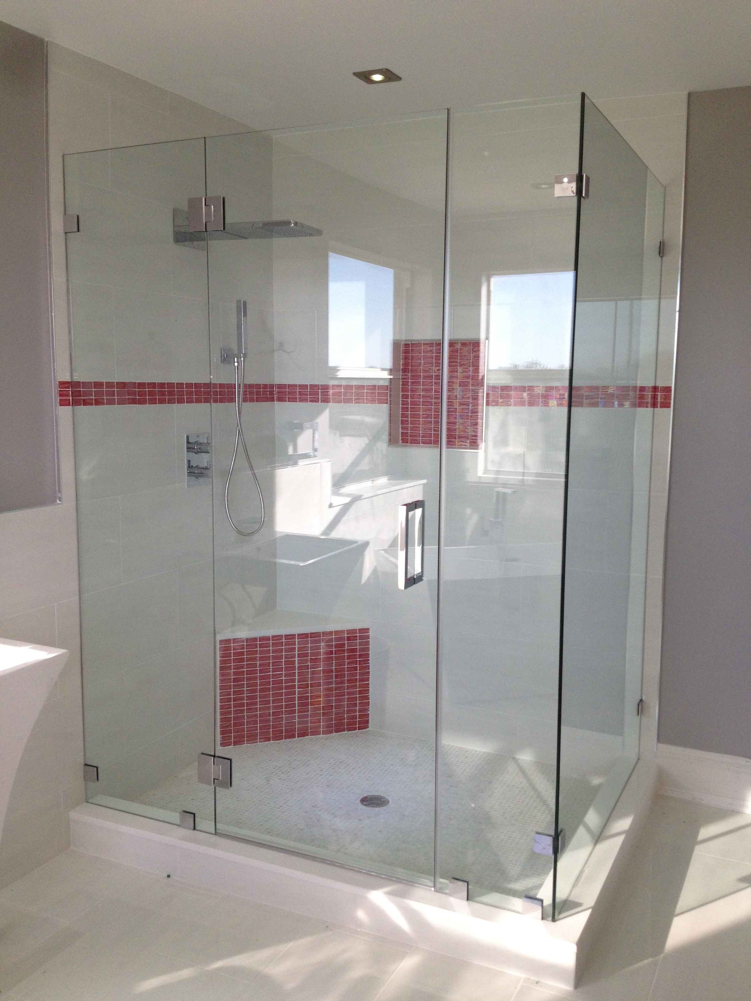 90 Degree Frameless shower