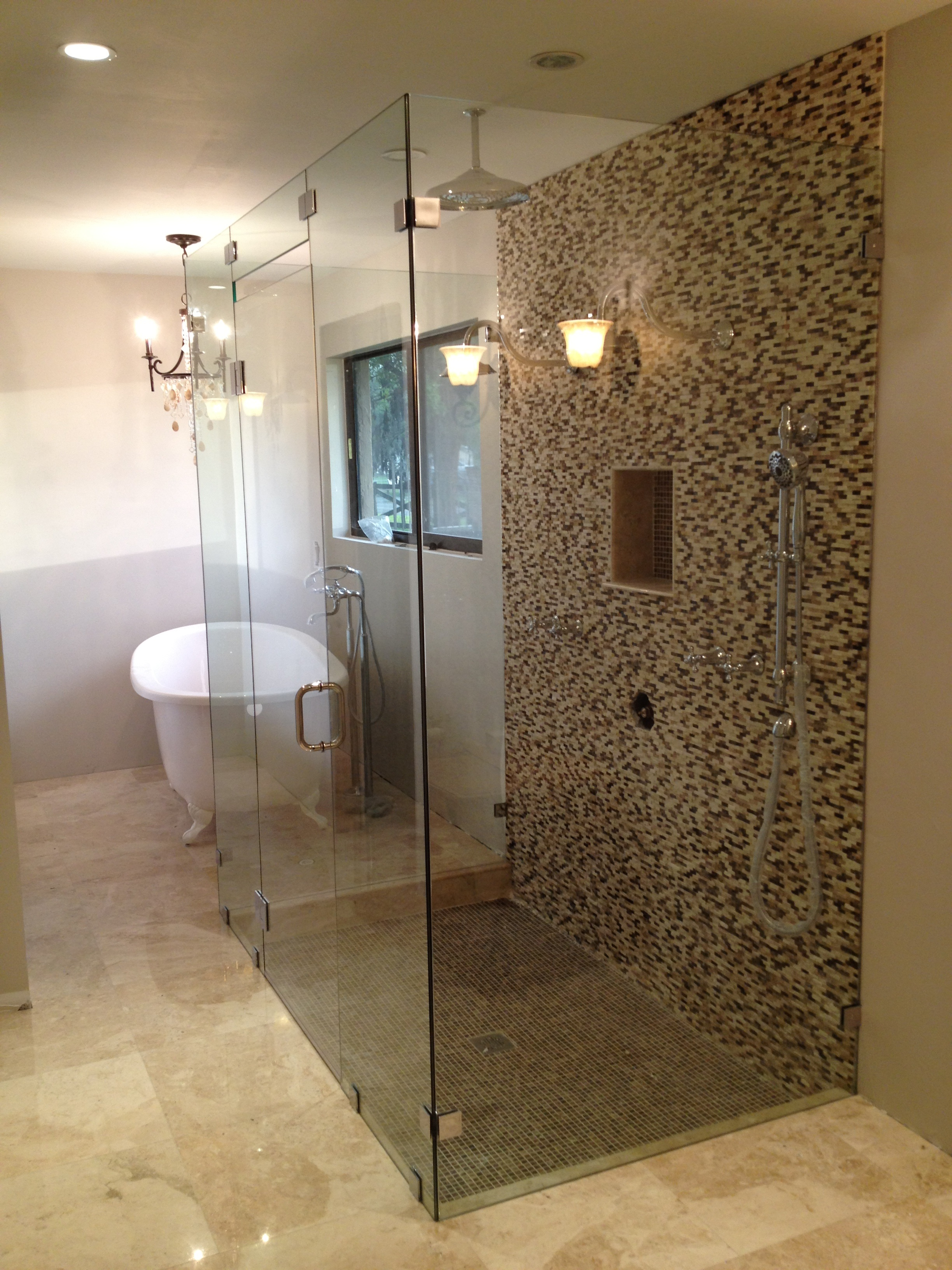 Frameless miami shower doors