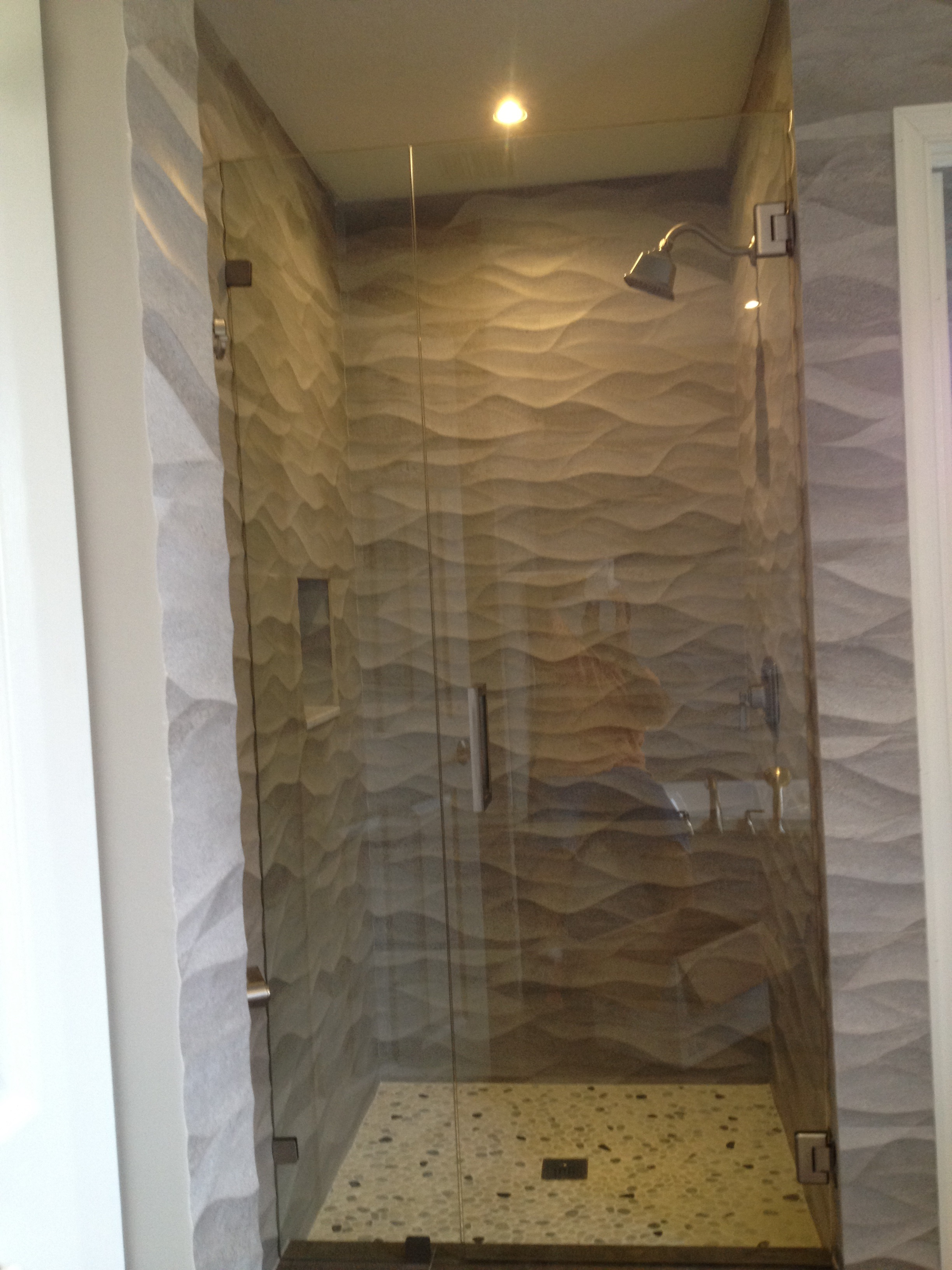 framless shower glass doors and mirrors