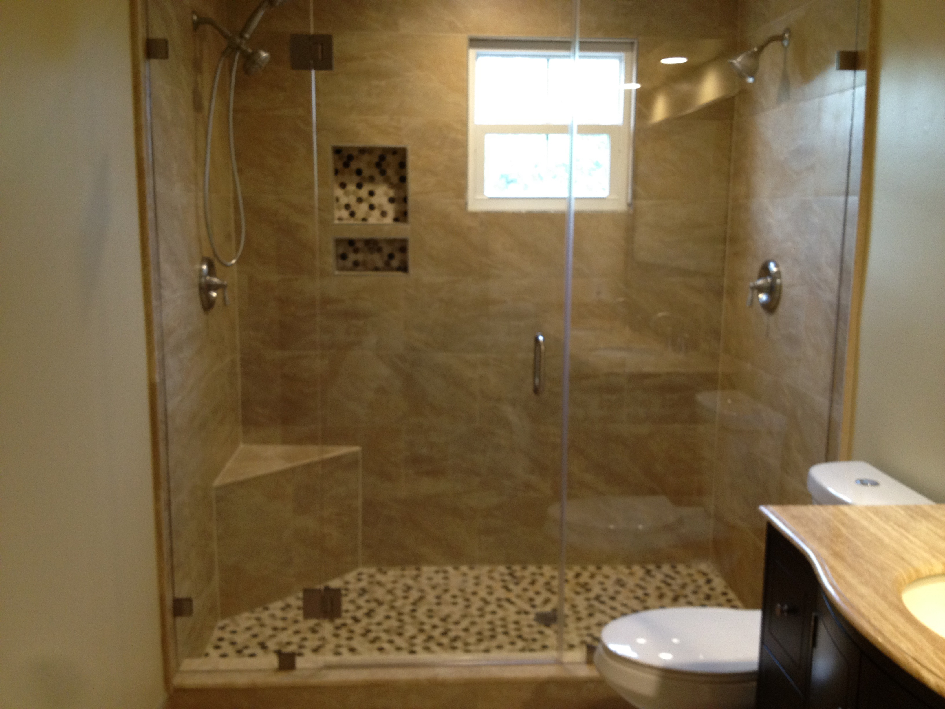 Frameless Shower Doors For Small Bathrooms.Frameless Shower Glass Doors